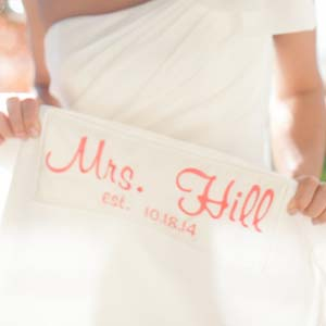 A Wedding Dress Label G Long Hem Label