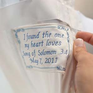 A Wedding Dress Label C A Litte Something Extra